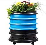 WormBox : Vermicompostador 3 bandejas Azul + Jardinera - 56...