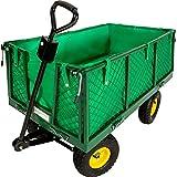 TecTake Carro de transporte carretilla de mano de jardin...