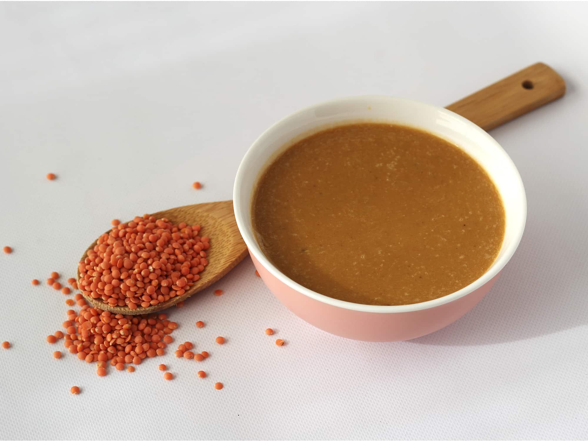 C mo hacer sopa de lentejas rojas la huertina de toni - Como cocinar alubias rojas ...