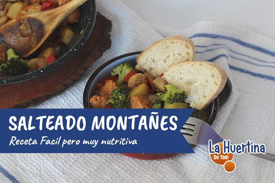 Salteado Montañés,receta fácil y nutritiva