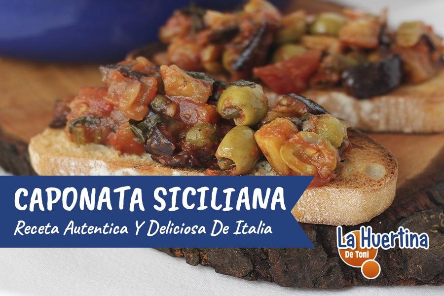 Caponata Siliciana, la receta auténtica y deliciosa!!