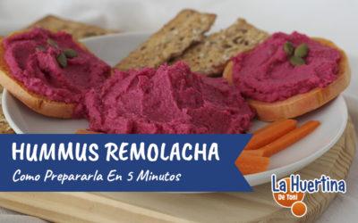 Cómo preparar Hummus de Remolacha en cinco minutos
